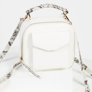 Free People Small Snakeskin Backpack